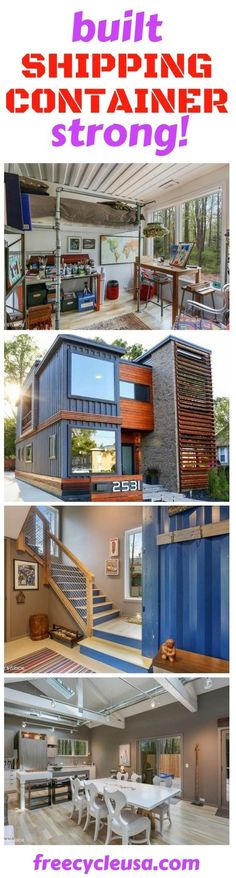 Container House - Shipping Container Home Guide - Who Else Wants Simple Step-By-Step Plans To Design And Build A Container Home From Scratch? Building A Container Home, Container Buildings, Container Architecture, Architecture Design, Sustainable Architecture, Shipping Container House Plans, Shipping Containers, House Front Design, Container House Design