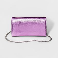Foldover Clutch with Removable Crossbody Chain - Mossimo Supply Co. Purple