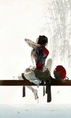 Image de anime, chinese, and ibuki satsuki