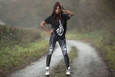 "CRMC X @wirosatan X @viewfromthecoffin ""Aske Til Aske"" Long Tee & CRMC X @julianakbar ""Satan's Waitin'"" Leggings Available at www.crmc-clothing.co.uk | WE SHIP WORLDWIDE Model - @1davina2015 Photographer - @_rgphotography_ #vixen #burningchurch #tattooist #alternative #blackmetal #fashionstatement #stunning #lit #leggings #womenswear #blackwear #satanswaitin #blackmodel #blackgirlsrock #beautifulblackwomen #cute #instacute #beautiful #dailyfashion #styles #style #wearblack #churchburning…"