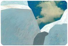 Jochen Gerner barcelona / acrylique sur carte postale