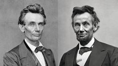 The toll of a Presidency: The first & last portrait photos of Lincoln as President: May 1860 & Feb 1865. [1601x900]