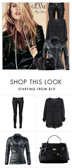 """Sexy Glam"" by anne-977 ❤ liked on Polyvore featuring Balmain, H&M, Niclaire and Steve Madden"