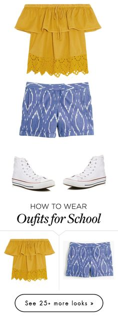 """LAST DAY OF SCHOOL"" by ella2929 on Polyvore featuring Madewell, J.Crew and Converse"