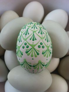 Pin drop egg made on St. Patrick's Day