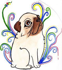 pug art | Through a pug's eyes by ~burnt-hamster on deviantART