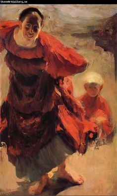 Filipp Malyavin Countrywoman and children