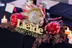 We love this intimate table arrangement Wikus and Christine put together for their wedding day. We couriered these flowers up to Kimberly and are delighted at how they turned out.  We supply flowers all over South Africa. Get in touch to find out more!  📷: Christine Joy Table Arrangements, South Africa, How To Find Out, November, Wedding Day, Joy, Touch, Table Decorations, Flowers