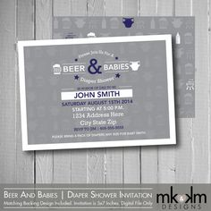 diaper shower invitation beer and babies diaper party couples shower baby shower invite dad shower diapers for dad printable invite