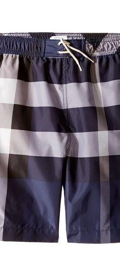 Burberry Kids Mini Jeffries Swimsuit (Little Kids/Big Kids) (Ink) Boy's Swimwear - Burberry Kids, Mini Jeffries Swimsuit (Little Kids/Big Kids), 4047877-412, Apparel Bottom Swimwear, Swimwear, Bottom, Apparel, Clothes Clothing, Gift, - Fashion Ideas To Inspire