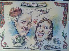 consigue el mejor recuerdo de #boda o #evento tambien pedidos online http://www.elcaricaturas.com/