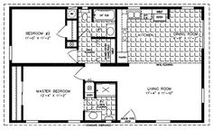 Home open floor and open floor plans on pinterest for 24x40 2 bedroom house plans