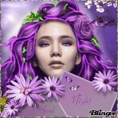 good night purple fantasy