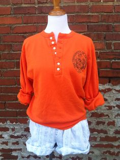 Vintage sweatshirt UT University of Tennessee VOLS henley Knoxville S M retro college football on Etsy, $18.00