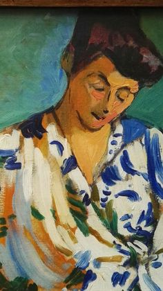 André Derain, Mme Matisse, dettaglio Vincent Van Gogh, Art Fauvisme, Andre Derain, Post Impressionism, Henri Matisse, Cubism, French Artists, Portraits, Figurative Art