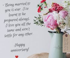 Anniversary is the most important day for a couple. To make this day memorable, Happy Anniversary Quotes and messages are the specific way. Anniversary Quotes For Girlfriend, Happy Anniversary Messages, Wedding Anniversary Message, Marriage Anniversary, Girlfriend Quotes, Love Wishes, Special Quotes, Learning To Be, Happy Marriage