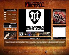 Pagina principal de Metanoia Metal Radio (2015)