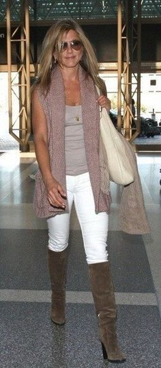 Love the white jeans and boots