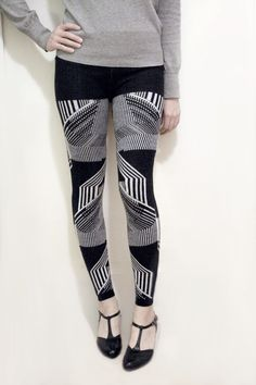 GEO KNIT LEGGINGS by MicaelaGreg on Etsy, $150.00