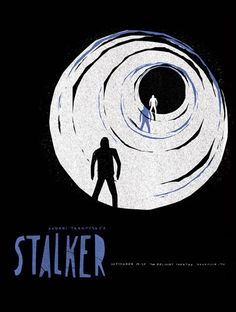 Stalker Soviet science fiction art film directed by Andrei Tarkovsky Film Poster Design, Movie Poster Art, New Poster, Minimal Movie Posters, Famous Monsters, Alternative Movie Posters, Poster Pictures, Minimalist Poster, Graphic Design Typography