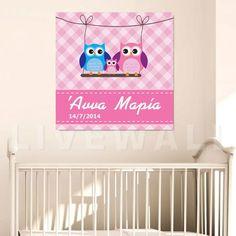 Παιδικός πίνακας σε καμβά κουκουβάγιες με όνομα Pink Toy Chest, Cribs, Storage Chest, Toys, Pink, Baby, Home Decor, Cots, Activity Toys