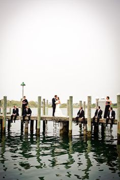 Wedding at the Montauk Yacht Club- great picture idea- sisters wedding