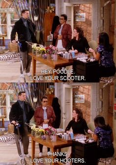 """Karen and Jack - Will and Grace """"love your hooters"""" lol"""