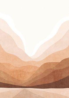 'Warm mountain landscape' Poster by Miss-Belle Wallpaper Sky, Iphone Background Wallpaper, Aesthetic Iphone Wallpaper, Pattern Wallpaper, Aesthetic Wallpapers, Minimal Wallpaper, Fond Design, Art Minimaliste, Minimalist Art