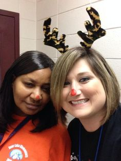 Rudolph Day- everyone has a red nose.