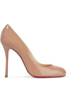 CHRISTIAN LOUBOUTIN Fifetish 100 Patent-Leather Pumps. #christianlouboutin #shoes #pumps