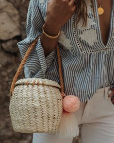"1,492 Likes, 14 Comments - Soludos (@soludos) on Instagram: ""My favorite new Merida basket Pom Pom bag, handmade in Mexico  - @sincerelyjules"""