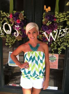 $24.50 Dawn top shown in Lime | 105 West Boutique (Abbeville, SC)