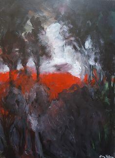 Sunset/ painting, acrylic on canvas