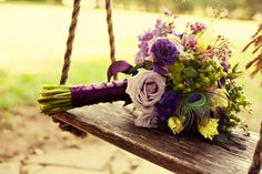 shades of purple and complementary colors- It even has GREEN