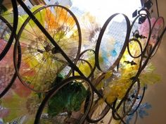Cool way to use old bicycle wheels