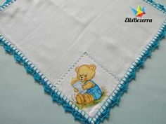 Waldineia Santos shared a video Crochet Cord, Crochet Bear, Baby Blanket Crochet, Diy Crochet, Crochet Edging Patterns, Crochet Borders, Embroidery Stitches, Hand Embroidery, Crochet Hedgehog