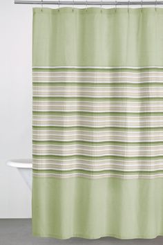 Sage Green, Tan, U0026 White DKNY Sahara Shower Curtain ~ DonnaKaranHome.com