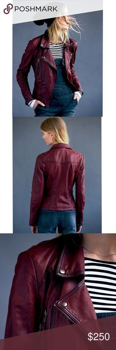 Free People Leather Classic Biker Jacket A unique boy meets Boho twist on the biker jacket. Made from 100% genuine leather with a washed and distressed look! Single breasted with zip up closure and pockets. Fully lined. Excellent condition. All reasonable offers are welcome! Please make all offers through the offer button🤗 Free People Jackets & Coats