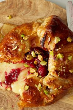 NYT Cooking: Likely to be a hit at any party, this recipe updates the classic br. NYT Cooking: Likely to be a hit at any party, this recipe updates the classic brie en croute with a Jam Recipes, Holiday Recipes, Cooking Recipes, Thanksgiving Recipes, Thanksgiving Appetizers, Christmas Recipes, Make Ahead Appetizers, Appetizer Recipes, Cranberry Jam