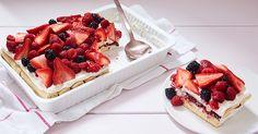 No-Bake Berry Tiramisu via @PureWow