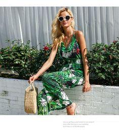 6578e0be819 Ruffle Leaf Print Jumpsuit. Ruffle Leaf Print Jumpsuit. Ezza Fashion ·  Playsuits   Rompers