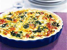 Glutenfri paj med fårost och bladspenat | Recept.nu