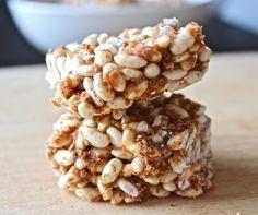 healthy rice crispy treats: vegan