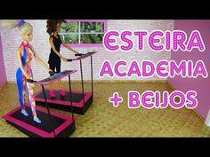 Como fazer Esteira de Academia para Barbies/Bonecas - YouTube Barbie Furniture Tutorial, Diy Barbie Furniture, Diy Dollhouse, Dollhouse Miniatures, Mini Gym, Acrylic Paint Set, Barbie Dream House, Miniature Crafts, Miniture Things