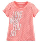 Practice, play or game day, she's ready to go in this sporty tee.