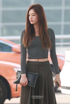 Nana's stylish elegant airport fashion!