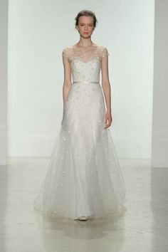 Christos illusion neckline wedding dress