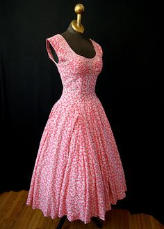 1950's Print Cotton Dress