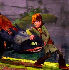 Hiccup introducing Astrid to Toothless  Toothless is not amused... Hiccup's face though