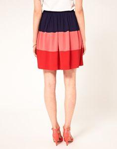 Enlarge Boutique By Jaeger Color Block Skirt